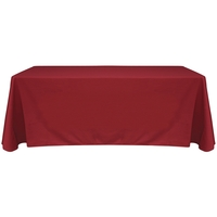 6' Blank Solid Color Polyester Table Throw - Terra Cotta