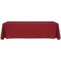 8' Blank Solid Color Polyester Table Throw - Terra Cotta