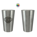 18oz No Sweat Double Wall Pint Glass, spot color