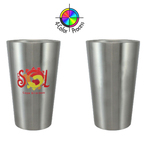 18oz No Sweat Double Wall Pint Glass, four color