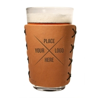 Leather Pint Holder with Glass - Box Kit