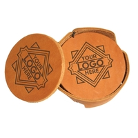 Leather Coaster Holder Sets of 6