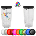 16oz Retro Swirl Tumbler with Lid, four color