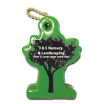 Vinyl-Coated Floating Key Tag - TREE