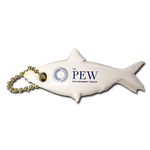 Vinyl-Coated Floating Key Tag - Minnow