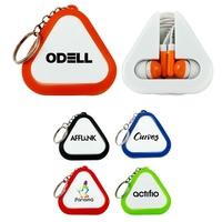Triangle Ear Buds Keychain