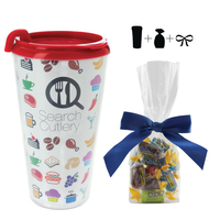 Plastic Travel Mug with Jolly Ranchers - 16 oz. Drinkware