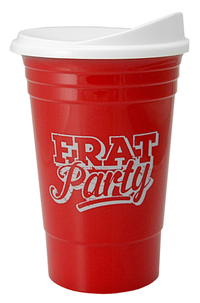 """16 oz. Double Wall Insulated """"Party"""" Plastic Cup"""