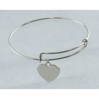 Expanding Bracelet With Charm