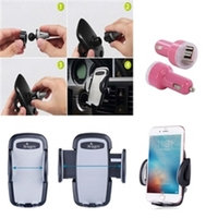 iBank®Car Air Vent Mount + USB Car Charger