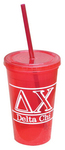 16 OZ. DOUBLE WALL TUMBLER WITH STRAW