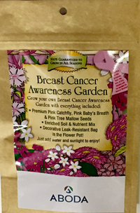 Breast Cancer Awareness Garden Pouch