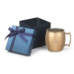 18 oz stainless steel copper plated Siberian Mule Gift Set