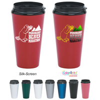 16 Oz. Infinity Tumbler With Plastic Sip-Thru Lid