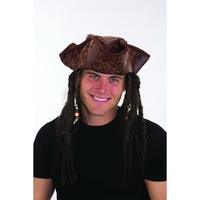 Caribbean Pirate Hat w/Braids