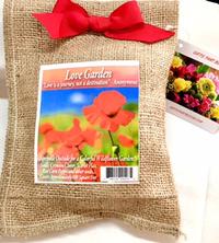 Love Garden in Burlap Bag
