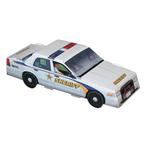 Foldable Die-cut Sheriff Car,Full Color Digital