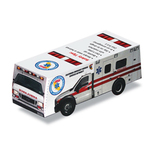 Foldable Die-cut Ambulance,Full Color Digital