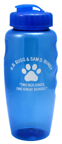 """30 oz. """"Gripper"""" Poly-Clean Sports Bottle with Super-Sipper"""