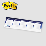 "Post-it® Custom Printed Organizational Notes - 3"" x 10"""