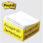 Post-it (R) Custom Printed Notes Half Cube