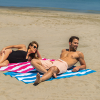 Premium Cabana Striped Terry Velour Beach Towel