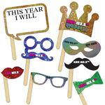 New Year Selfie Kit Digitally Printed