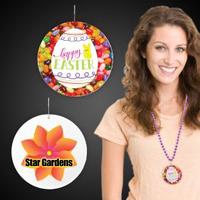 """Easter Egg Plastic Medallions - 2 1/2"""""""