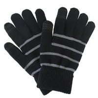Striped Knit Touch Screen Stylus Gloves