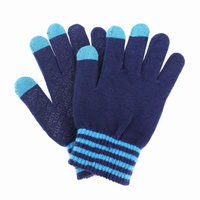 Rubber Grip Touch Screen Stylus Gloves