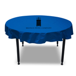 "Silken Table Throw for Round Table 60"" D, Heat Transfer"