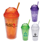 Dome 16 oz. Double Wall Acrylic Tumbler with Dome