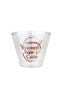 "9 oz. ""Squat"" Crystal Clear Plastic Cup"