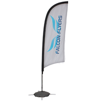 24 Hour Quick Ship 8' Razor Sail Sign Banner Kit One-Sided