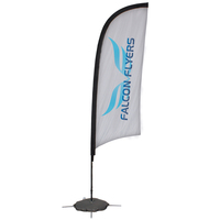24 Hour Quick Ship 9' Razor Sail Sign Banner Kit One-Sided