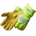 Safety Lime Grain Pigskin Thermo Lined Driver/Work Gloves