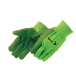Double Palm Canvas Work Gloves w/ Black PVC Dots