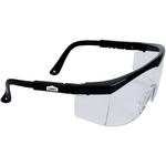 Large Single-Lens Safety Glasses w/ Ratchet Temples