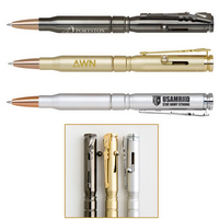 Brass Bullet Ballpoint Pen with Rifle Clip