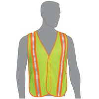 Lime Mesh Safety Vest w/ 2-Tone Stripes