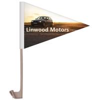 """7.5"""" x 10.5"""" Single Reverse Pennant Style Custom Car Flag"""