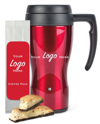 Tumbler with Coffee & Cookie