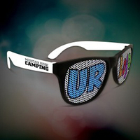 Custom White Billboard Retro Sunglasses