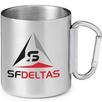 10 oz. Stainless Steel Camping Carabiner Mug