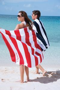 Horizontal Cabana Stripe Beach Towel