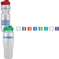 24oz Translucent Contour Bottle with Flip Top Lid & Infuser