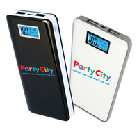 12,000mAh Slimline Executive USB Power Bank with LCD Display