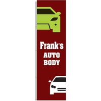 5' x 17' Vertical Outdoor Pole Banner for Poles w/o Halyard