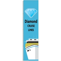 5' x 20' Vertical Outdoor Pole Banner for Poles w/o Halyard