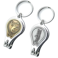 Platinum Nail Clippers Key Chain